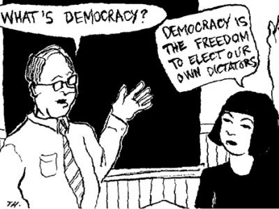 Democratie = dictatuur